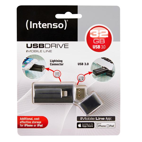 Intenso iMobile Line USB-Stick 32 GB USB Type-A / Lightning 3.2 Gen 1 (3.1 Gen 1) Schwarz