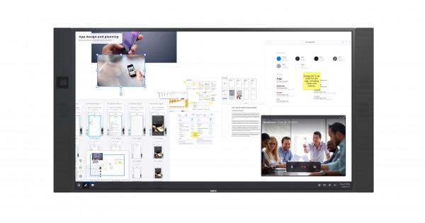 NEC InfinityBoard 2.1 Digital Beschilderung Flachbildschirm 165,1 cm (65 Zoll) LED 4K Ultra HD Schwa