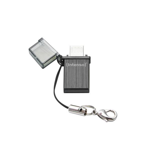 Intenso Mini Mobile Line USB-Stick 32 GB USB Type-A / Micro-USB 2.0 Schwarz