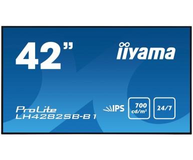 iiyama LH4282SB-B1 Signage-Display 106,4 cm (41.9 Zoll) LED Full HD Schwarz