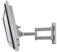 B-Tech LCD Articulating wall mount for large screen LCD monitors and TVs Silber