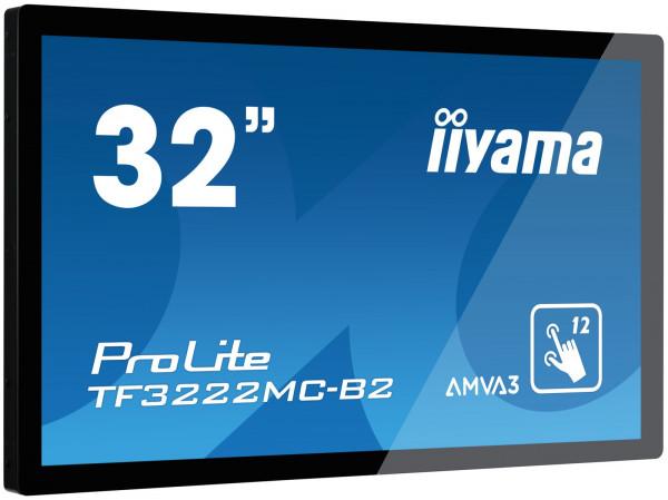 iiyama TF3222MC-B2 Signage-Display 80 cm (31.5 Zoll) LED Full HD Touchscreen Schwarz