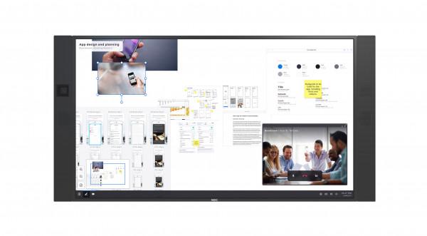 NEC InfinityBoard 2.1 Digital Beschilderung Flachbildschirm 2,18 m (86 Zoll) LED 4K Ultra HD Schwarz